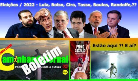 Eleições 2022 – Lula, Ciro , Bolsonaro , Tasso, Boulos, Randolfe